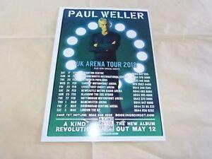 PAUL-WELLER-Pubblicita-rivista-Annuncio-REGNO-UNITO-ARENA-TOUR-2018