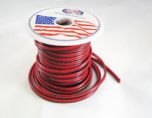18 AWG 50\' JSC Red/Black Stranded Copper Zip Wire Cable Cord Power ...