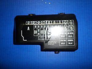 4TH GEN 92-96 HONDA PRELUDE FRONT ENGINE FUSE BOX COVER HONDA# 38252 SS0  003 | eBay | 97 Prelude Fuse Box |  | eBay