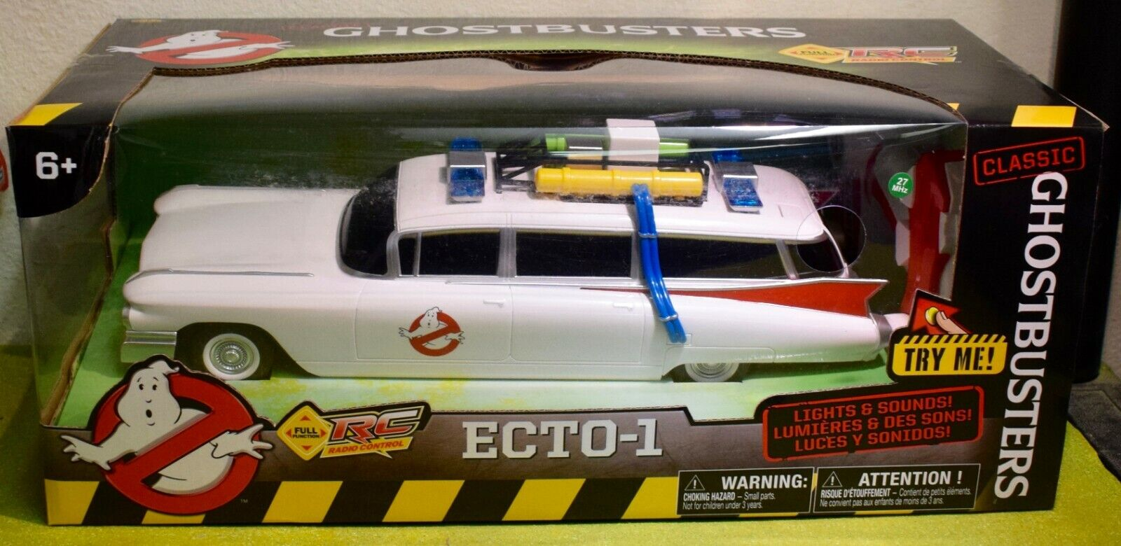 CLASSIC GHOSTBUSTERS ECTO-1 from 1984 MOVIE RADIO CONTROLLED 14  355mm LONG