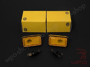 2x hella seitenblinker gelb blinker porsche 911 g 924 944. Black Bedroom Furniture Sets. Home Design Ideas