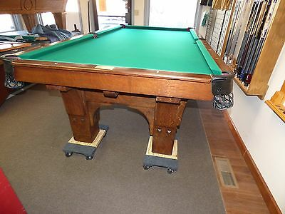 Antiques Billiards Table, 4 1/2 X 9 Foot St. Bernard Mission
