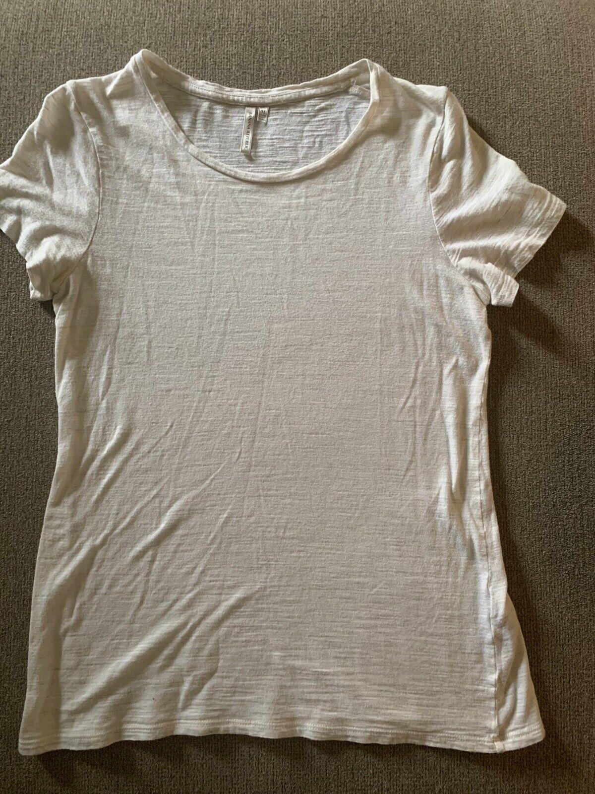 BANANA REPUBLIC Women's M Cream Soft Organic Blend T-Shirt