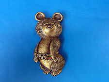 Olympic Games Moscow 1980, Games Talisman, Olympic Bear Pin Badge Large