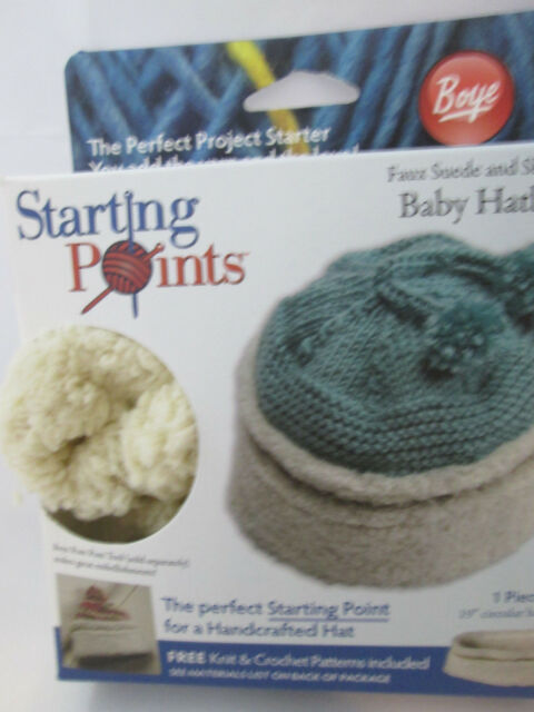 Baby Hatband Kit Faux Shearling and Suede Boye Starting Points Knit ...