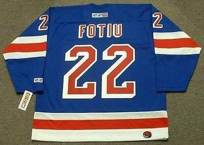 pretty nice 2e034 3b94f NICK FOTIU New York Rangers 1976 CCM Throwback Away NHL Hockey Jersey | eBay