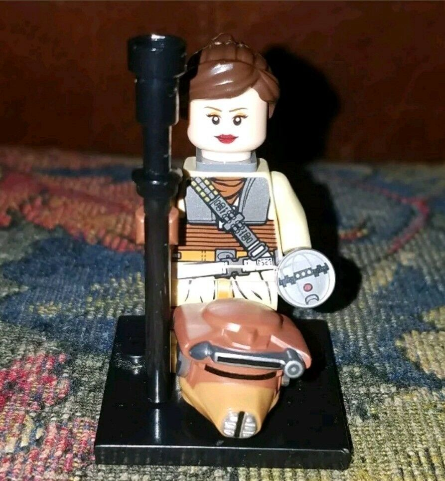 Authentic LEGO Star Wars Princess Leia Boushh Disguise Minifigure sw407 9516