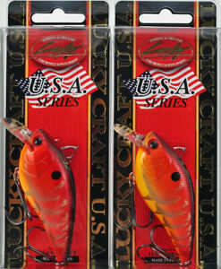 "Lucky Craft JAPAN Fat CB BDS4F 3/"" Floating 3//4 Oz Crankbait Rayburn Red New 2"