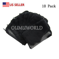 10pcs Filter Media Bags Reusable Aquarium Fish Tank Pond Net Mesh Bag US