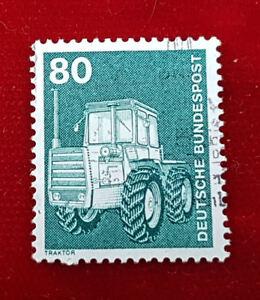 Briefmarke Deutsche Bundespost 80 Pfennig Traktor 1975 1a3 Ebay