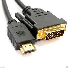 Oro 2M HDMI a DVI-D 24 +1 Perno Digitale via Cavo Piombo PC Laptop HDTV per monitor LCD