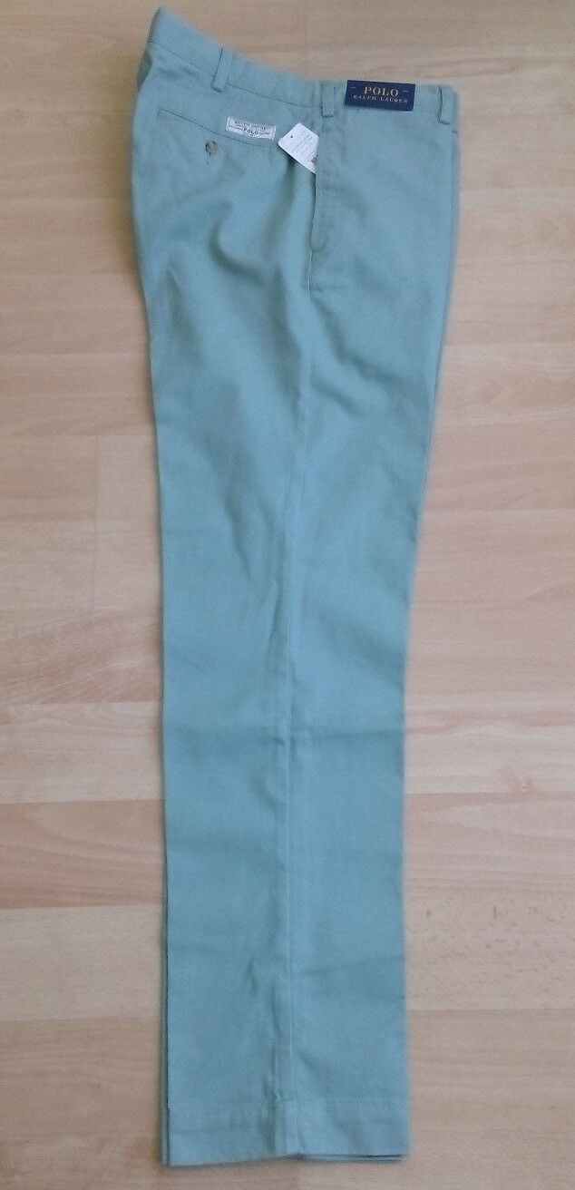 Ralph Lauren Preppy Pant - Chino - lindgrün - neu - Größe  36 34