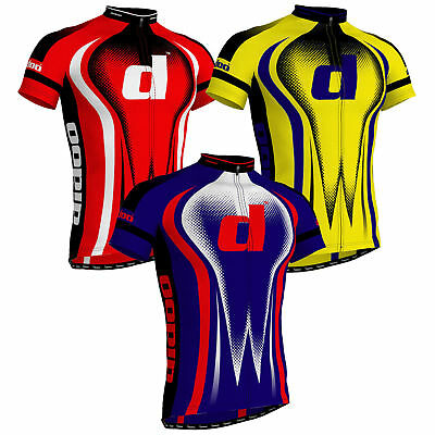 Deckra Cycling Jersey Short Sleeves Breathable Team Racing Bicycle Top//Shirt Men