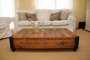 Couchtisch weiß Wohnzimmertisch Sofatisch Holz massiv vintage shabby loft retro