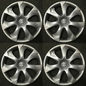 Set-of-4-OEM-HubCaps-WheelCovers-for-2014-2016-Mazda-3-B45A-37-170-56557