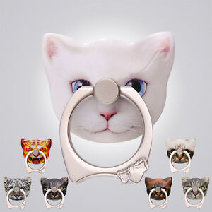 Metal Cat Phone Bracket Finger Ring Stand Mount Holder For Cell Phone Kickstand