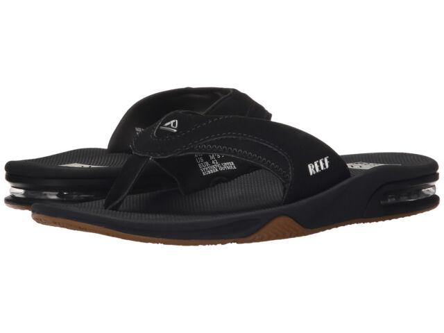 d89a7833ba78 Reef Fanning Sandals Rf002415 Black Silver Mens US Size 8 UK 7 for sale  online