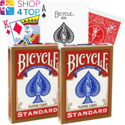 6 Decks Bicycle Rider Back Pinochle Jumbo Index Playing Cards 3 Red  3 Blue New