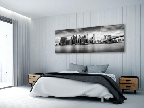 WANDBILDER XXL NEW YORK SKYLINE STADT LEINWAND BILDER WOHNZIMMER d-B-0154-b-a
