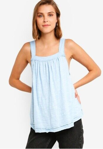 Free People Good For You Tank Cool Blue