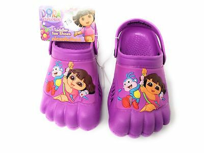 NEW Dora the Explorer Kids Purple Silly Feet Clogs Shoes Toddlers 5//6 7//8 9//10