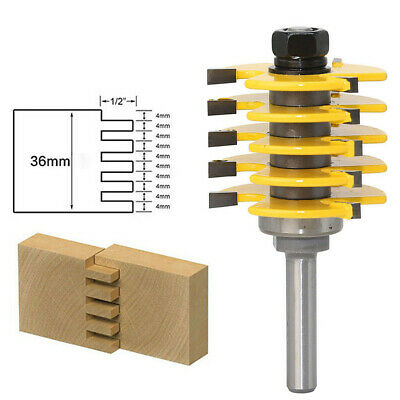 1//2 Inch Shank Finger Joint Router Bit Woodworking Milling Cutter With Bearing