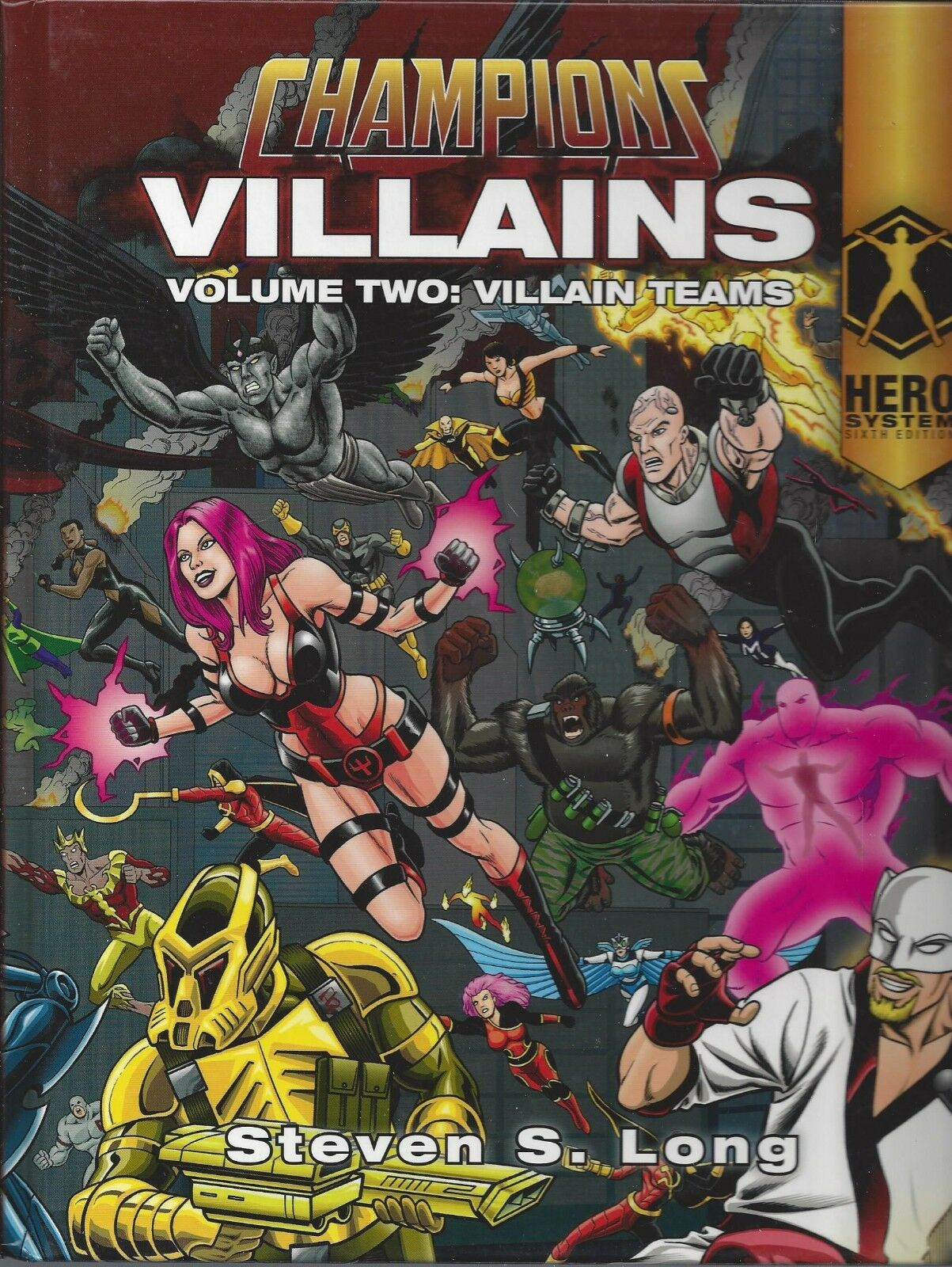 Hero System 6 6 6 th Edition RPG Champions Villains Vol 2 HC NEW  OOP  DOJHERO 1104 19b951