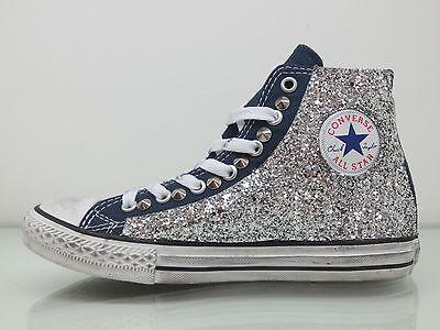 converse all star glitter blu