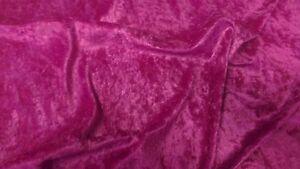 Cerise Pink crushed velvet/velour fabric - 1 Full Metre