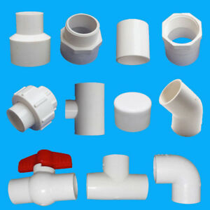 PVC-Pipe-Connector-Adapter-20-25-32mm-Tube-Elbow-Tee-Ball-Valve-Cap-90-Water