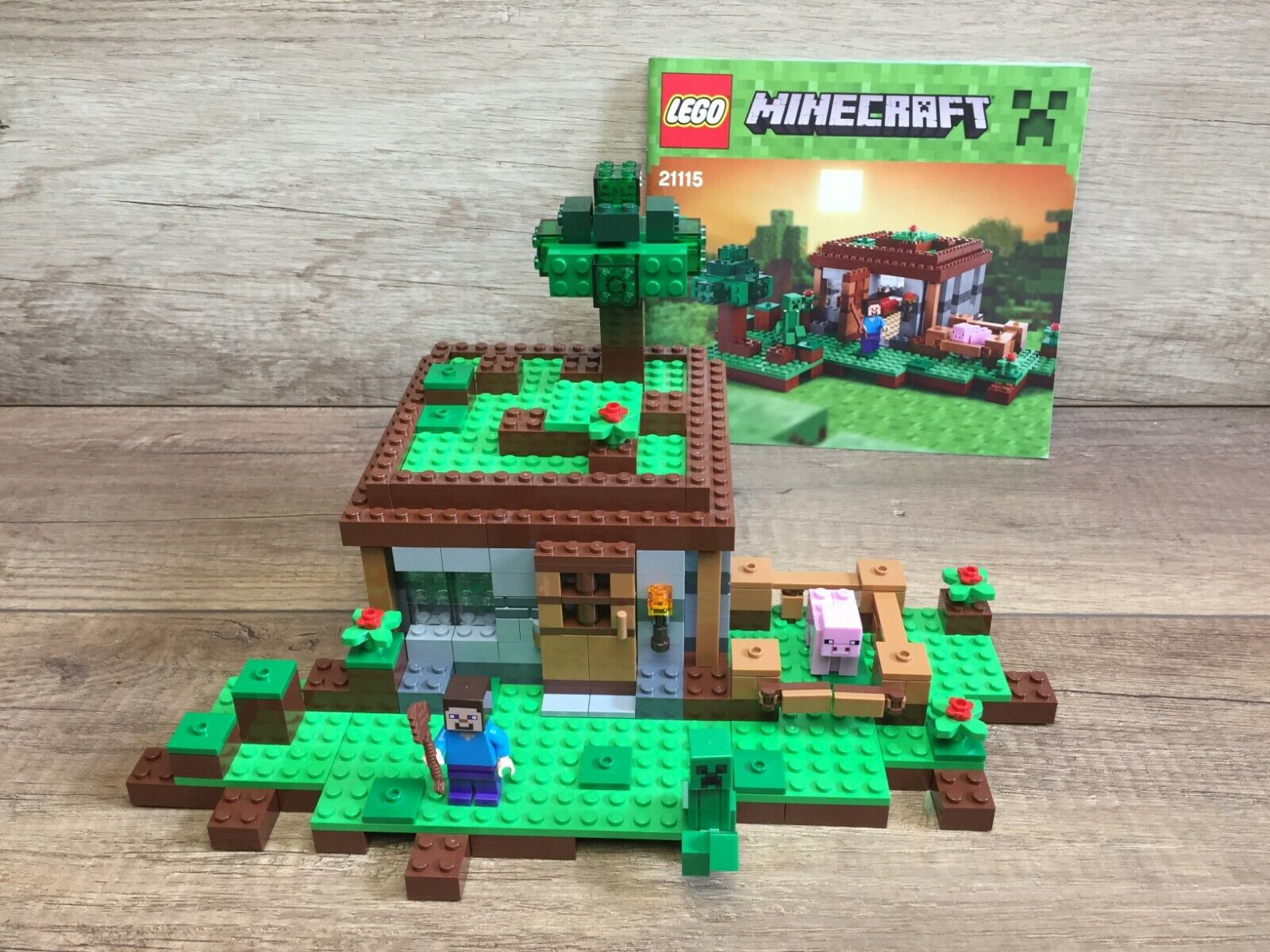Lego 21115 First Night Minecraft Steve Maison Complet  Complete  forme unique