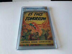 IS-THIS-TOMORROW-NN-CGC-3-5-FLAG-COVER-COMMUNISM-COMMUNIST-CATECHETICAL-COMICS