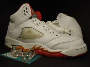 super popular 8ec1b 1f0a3 Image is loading 06-Nike-Air-Jordan-V-5-Retro-WHITE-