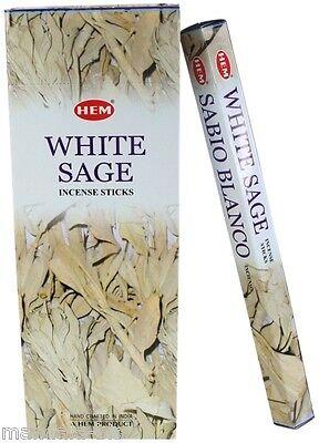 Weihrauch Salbei Weiß Box von 20 Stäbchen Hem