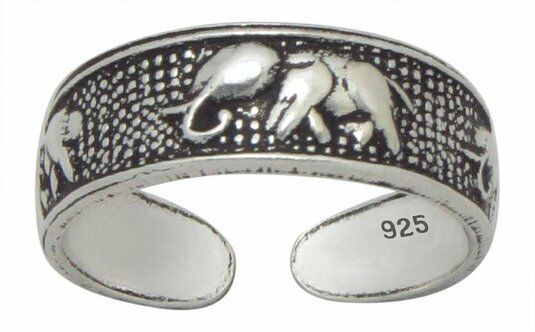 Sterling Silver (925) Adjustable Toe Ring  Elephant Design  !!       New !!