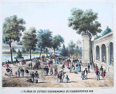 Winckelmann Original Lithografie Berlin Zoologischer Garten Guckkastenblatt 1870