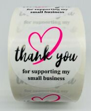 500 Pink Amp Black Thank You For Supporting My Small Business Label Sticker