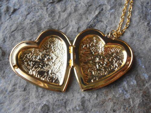 Mère et enfant Camée plaqué or en forme de cœur médaillon-fils-fille-mère