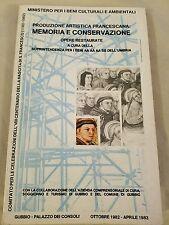 1982-1983 French? Book about Art Memoria E Conservazione