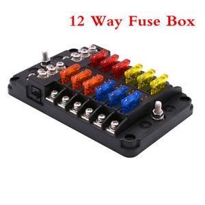 6 Way Blade Fuse Holder PBT PC Fuse Box Block Case 12V//24V Car Truck Boat Marine