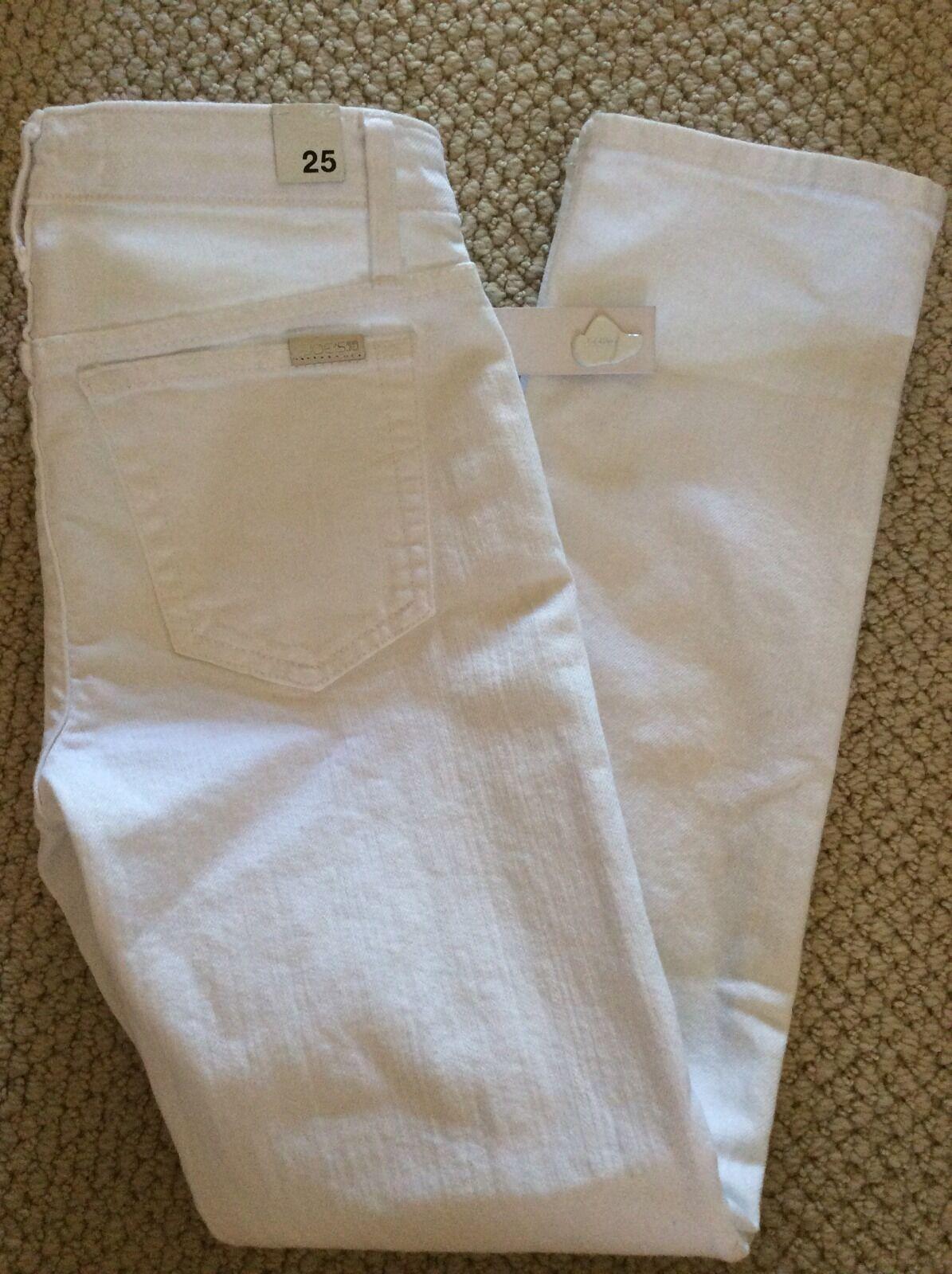 NWT  Joe's Jeans 'Bonnie' White Stretch Straight Ankle Crop Denim Sz 25