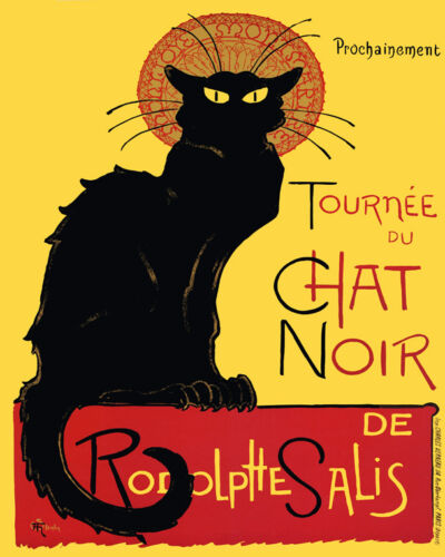Black Cat Tournee Chat Noir Rodolptte Salis French 16X20 Vintage Poster FREE S//H