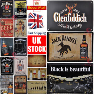 Beer Plaque for GLENFIDDICH JACK DANIELS GUINNESS Metal Signs pub ...