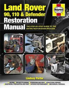 land rover defender restoration book 90 110 ninety haynes owners rh ebay co uk land rover defender 90 owners manual pdf land rover defender user manual pdf