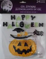 Halloween Gel Window Cling Stickers 24 Count Happy Halloween (free Shipping)