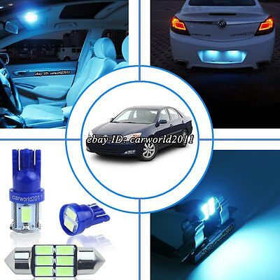 11-pc Aqua Ice Blue Car Interior LED Dome Light Package Kit For 02-06 Acura RSX