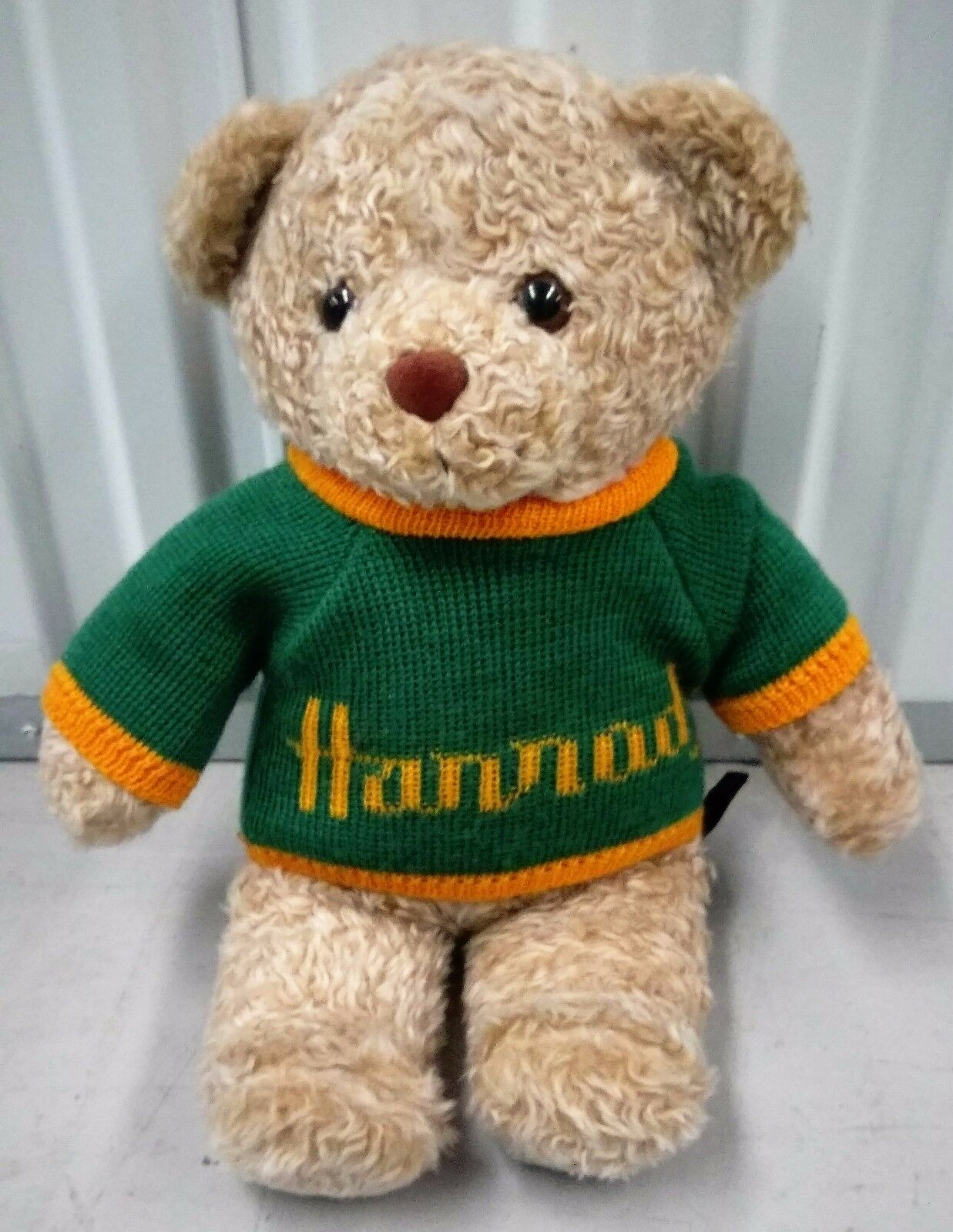 Harrods of London Rare 1995 Christmas Teddy Bear With Harrods Jumper (Tagged)