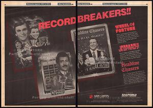 WHEEL-OF-FORTUNE-JEOPARDY-Orig-1985-Trade-print-AD-TV-promo-VANNA-WHITE