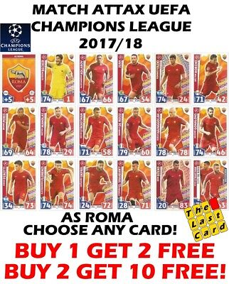 Roma match Attax 2017//18 Champions League 2018 379-396