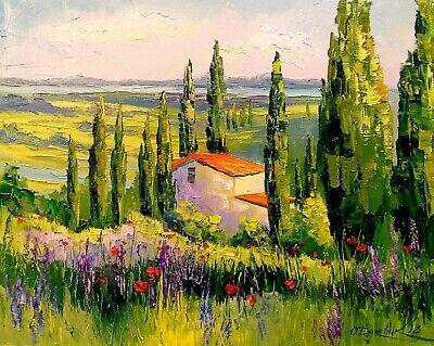paysage campagne toscan tableau peinture